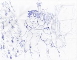 crappy christmas pic by TheDarkAngel13