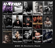 WWE 15 Posters Pack by Razor by Rzr316