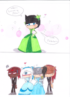 Jack's Friends Reaction of his Dress by sonic4ever760
