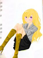 The girl on the sketchbook by Etude-Xillia