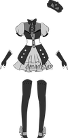 Gothic lolita outfit adoptable closed by AS-Adoptables