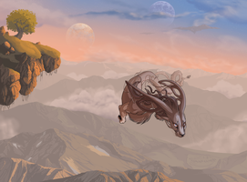 Over the mountains by Lunewen