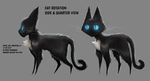DAY 300. Sidhe - Cat Rotation 1 by Cryptid-Creations