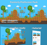Painterly Platformer Pack! by RareVenom