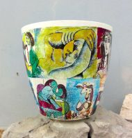 Flower pots Pablo Picasso series by naraosart