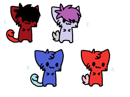 Adoptables Kittys by AT-Marceline
