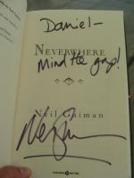 Neil Gaiman Signed Neverwhere by ElectricVinyl