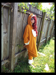 Corgi Pup Chilling Outside (Cosplay) by KrazyKari