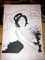 An O'Ren sketch in Lucca Comics and Games by lilin1988