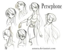 Persephone sketch by Aznara