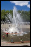 Seattle Center Fountain by AlexCphoto