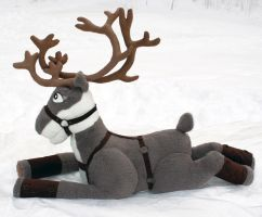 HUGE 4.5 foot by 5.5 foot Reindeer Plushie Prancer by PlushActionToys