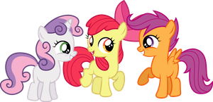 Excting Cutie Mark Crusaders by illumnious
