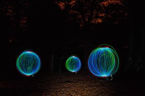 Coloured Orbs in Merrion by Grunvald