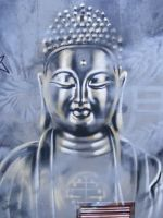 shambala buddha wall by n4t4