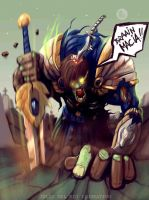 Braaainmaaciaa!!! Garen undead League of legend by juliodelrio