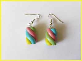 Marshmallow earrings by CookingMaru
