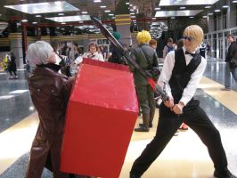 Shizuo vs. Dante Weapon Swap by ArchonicZen