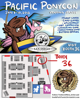Vending Booth 36 at Pacific PonyCon 2016 by SouthParkTaoist