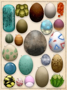 Pokemon Eggs Study No. 1 by Christopher-Stoll