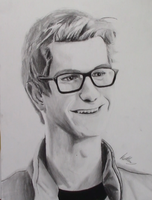 Andrew Garfield Spiderman Fan Art portrait by AnthonyParenti
