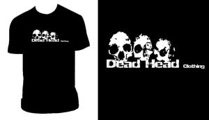 Dead Head Clothing Skull T by PandaPirate69