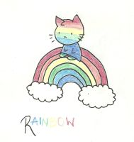 Rainbow cat by Gotothedoor