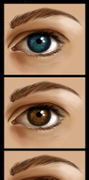 Realistic Eye Attempt by HTivey
