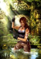 Tomb raider reboot render by Sakurawhish