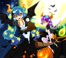 In search for more tricks and treats by CrystalSugarStars