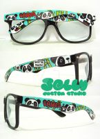 Save the Pandas Sunglasses by PoppinCustomArt