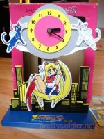 SailormoonS Moving Clock by kelleyko