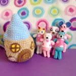 Animal Crossing Amigurumi Pinky House + Villagers by MadameWario