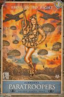Propaganda Pinups - Airborne Paratroopers by warbirdphotographer