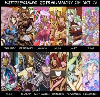 2013 Art Summary by Kizziesama