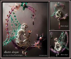 Fairy sculpture / suncatcher by illustrisdesigns