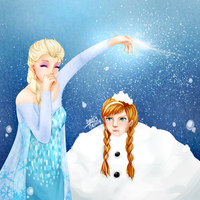 Frozen: Elsa and Anna :) by LesioletteChrysanthe
