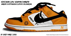 Nike Dunk Low Uzumaki Naruto by DertyHarry