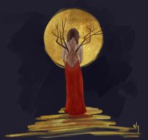 Golden Moon by Yiamme