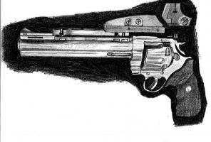 Colt Anaconda .44mag  in graphite pencil by ChrisDutton