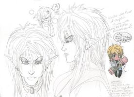 Jareth head Sketches by Willowsama