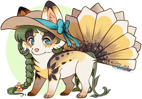 Sunflower Foxfan // auction// CLOSED by Belliko-art