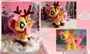 Fluttershy plush. Christmas. by My-Little-Plush