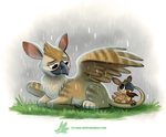 Daily Paint #1265. Griffawn by Cryptid-Creations