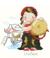 Vietnamese girl x-stitch chart by GracePessimist