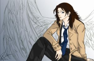 Femmi castiel - by Supernatural-Fox