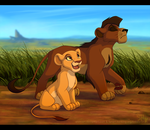 Hey, Mister! - Kiara and Kovu by ShimiArt