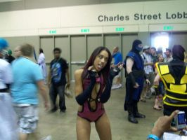 Mortal Kombat's Mileena Cosplay at Otakon 2011 by GamerZone18
