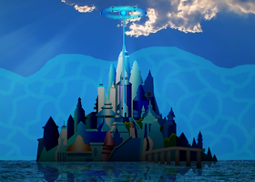 Disney's Atlantis (With Added Water and Sky) by RyanH1984