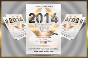 New Year Party Flyer by feydesignGR